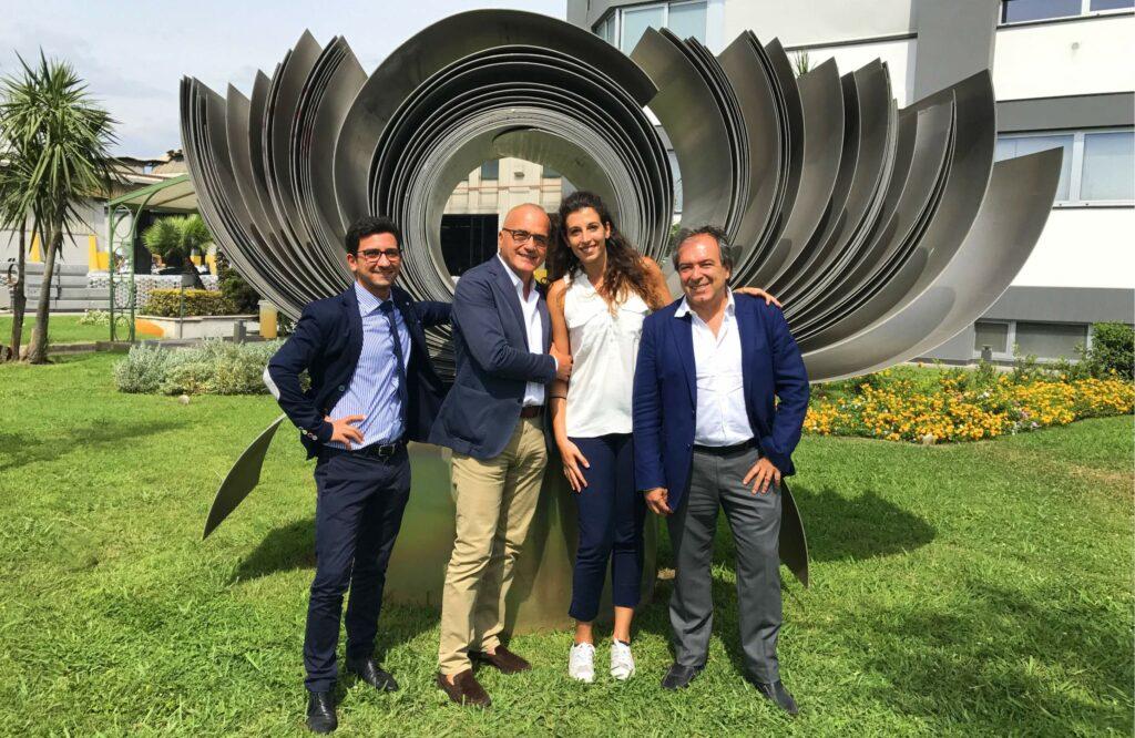 il team vendite Finstock e Applicazioni Industriali di Laminazione Sottile: Giovanni Russo, Giancarlo Tortora, Francesca Minadeo e Francesco Coscione